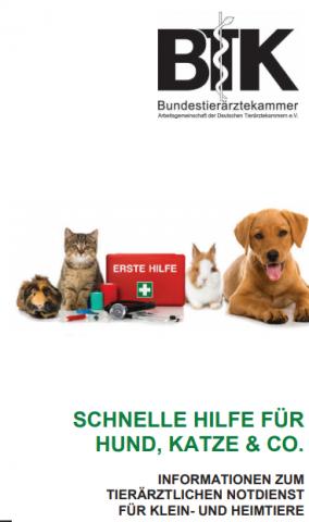 Schnelle Hilfe für Hund, Katze und Co.